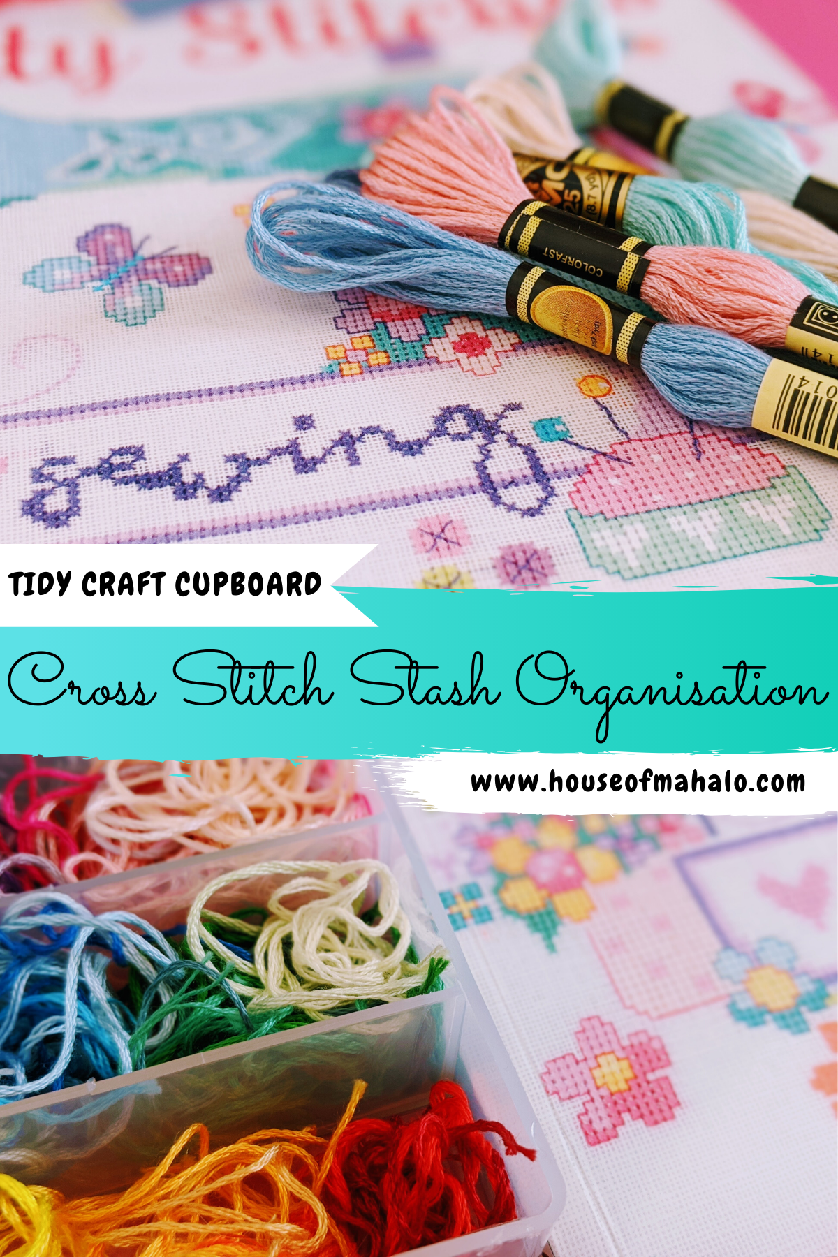 7 Easy Cross Stitch Stash Organisation Ideas