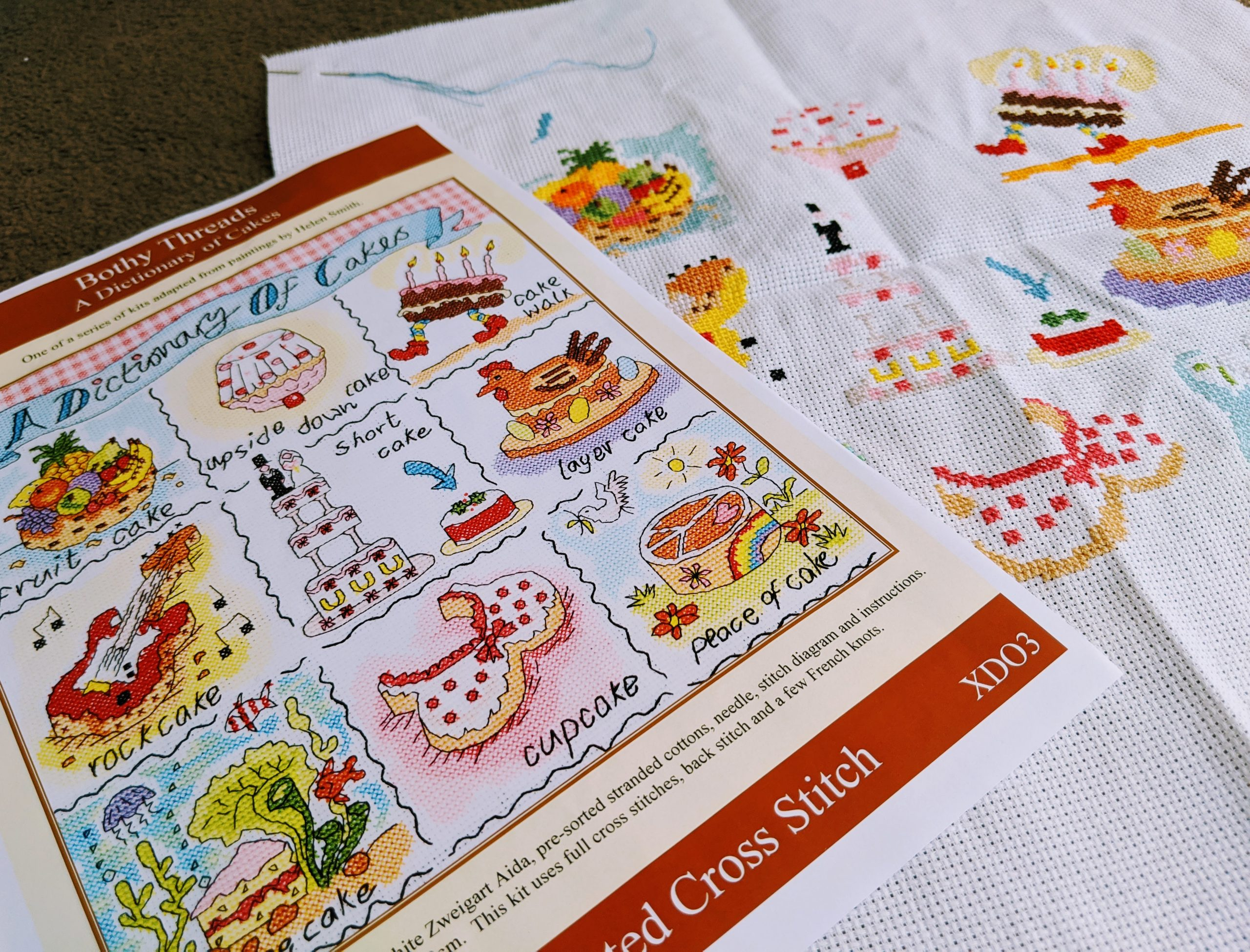 A Dictionary of Cakes Cross Stitch - Bothy Threads Kit