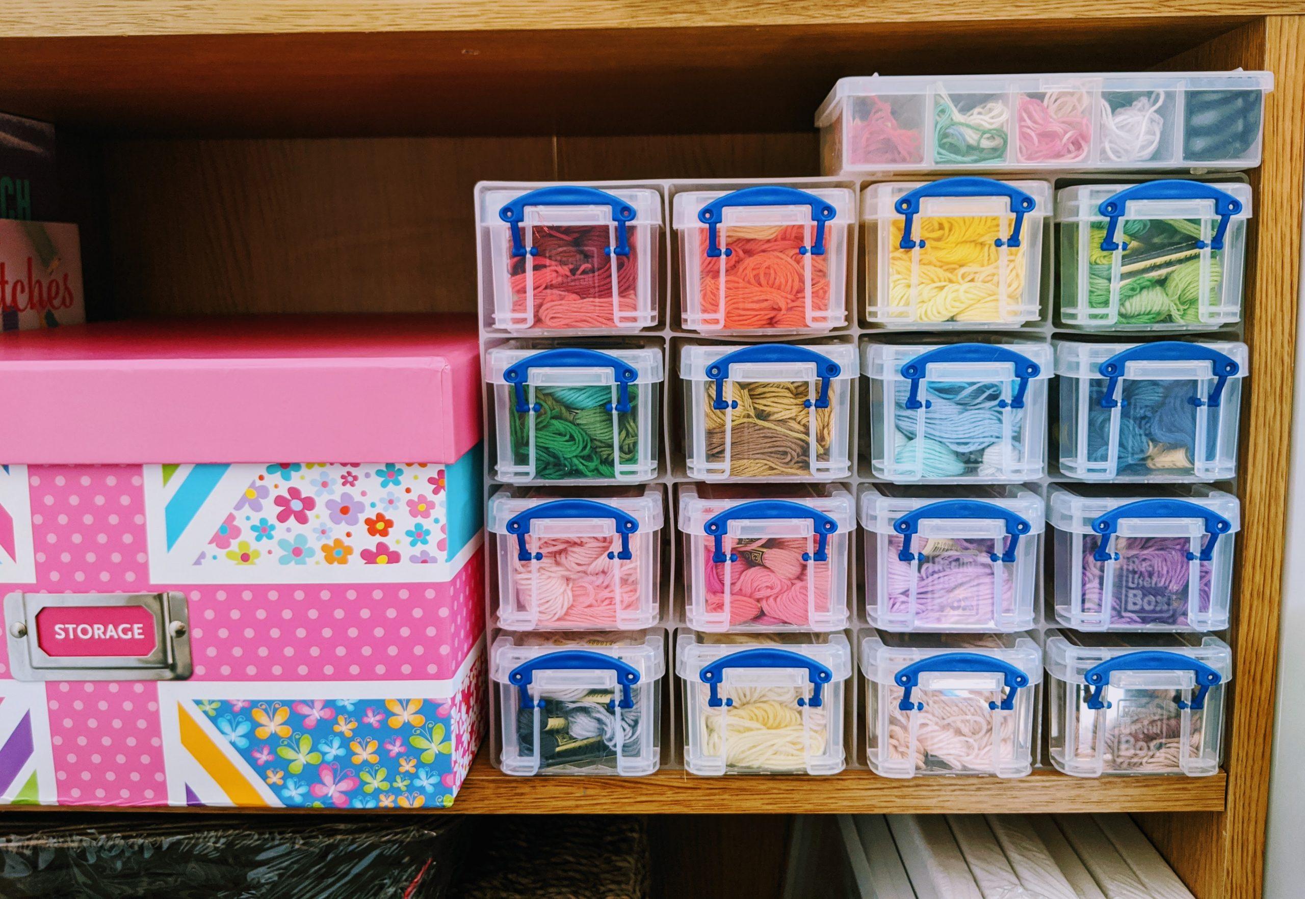 Cross Stitch Organisation Thread Storage - Compartment Boxes
