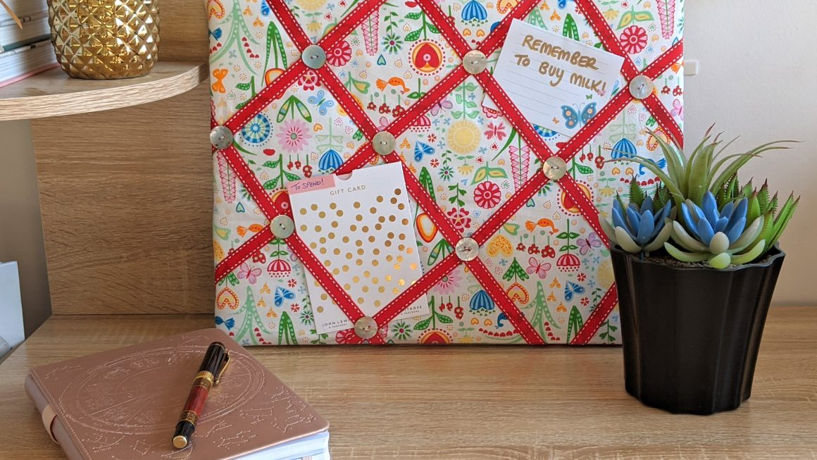 Bright & Colourful DIY Fabric Notice Board