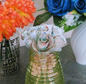 DIY Swirl Paper Roses
