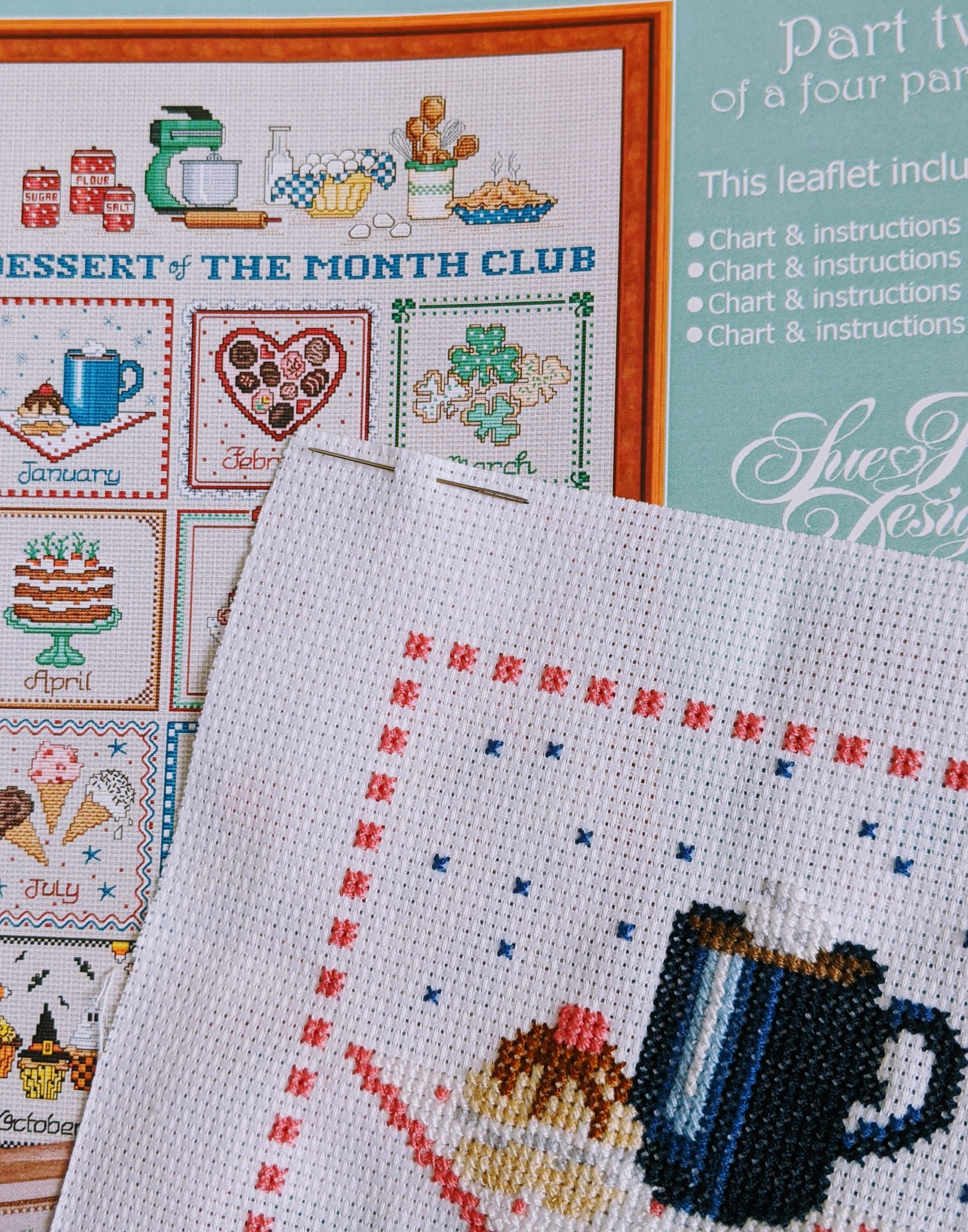 Dessert of the Month Club Cross Stitch