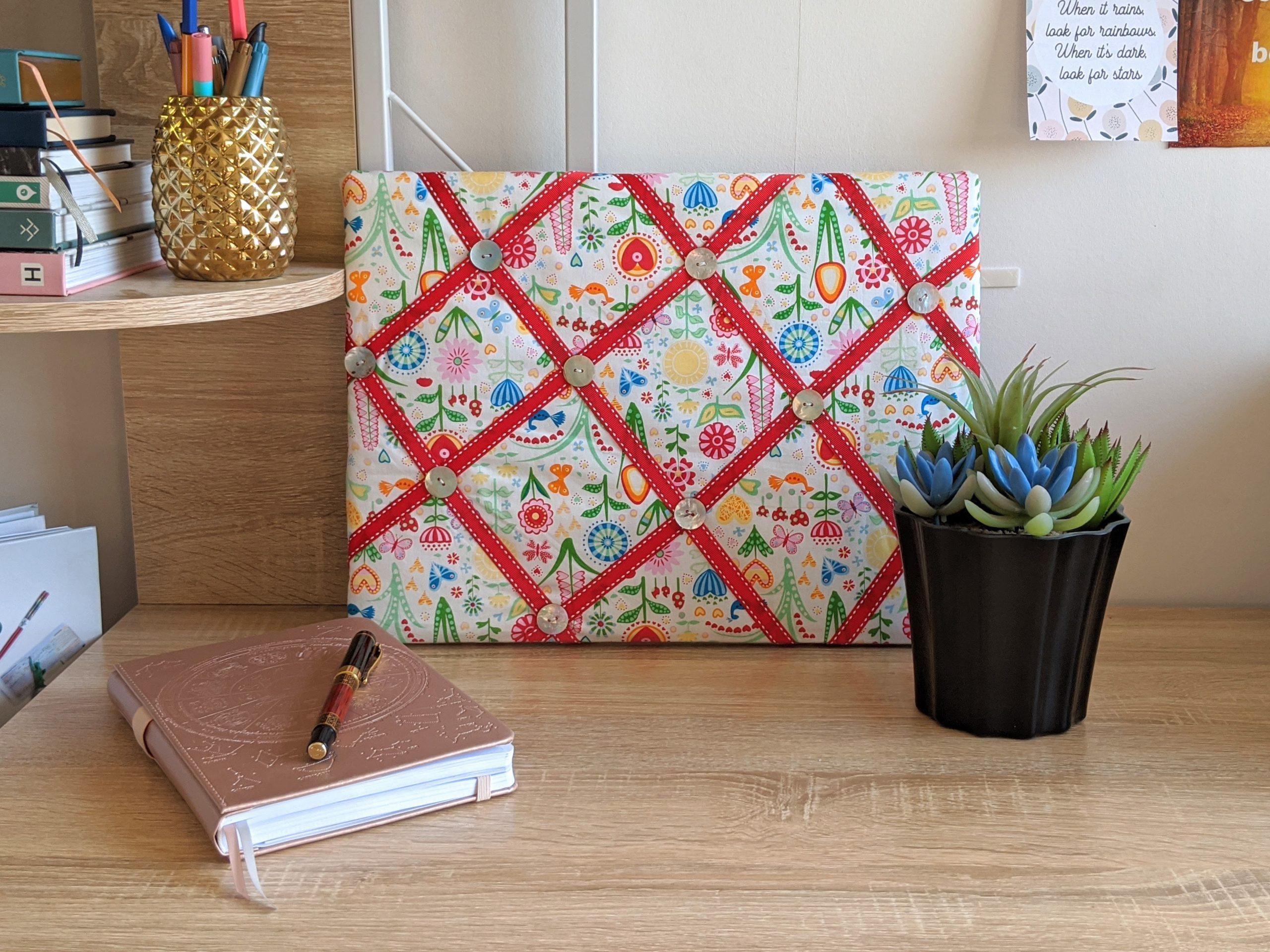 Easy DIY Fabric Notice Board