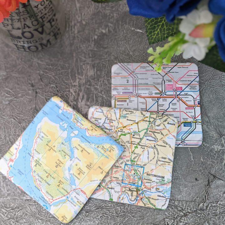 Easy DIY Map Coasters