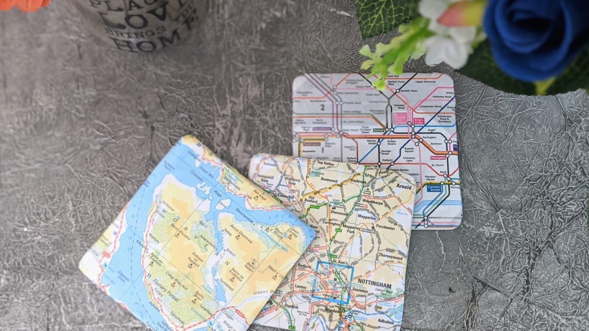 Quick DIY Map Coasters [Cute Travel-Inspired Gift Idea!]