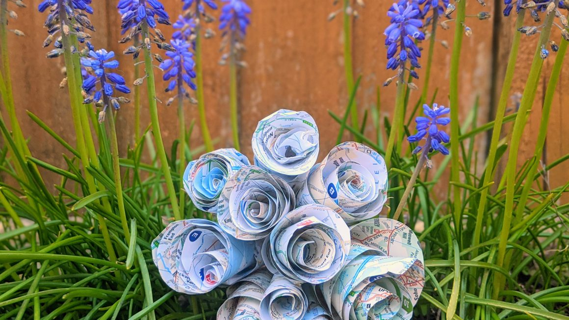 How To Make Paper Flowers: Easy DIY Swirl Roses