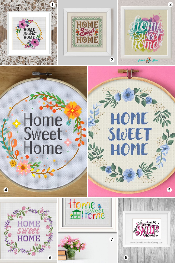 Home Sweet Home Cross Stitch Patterns