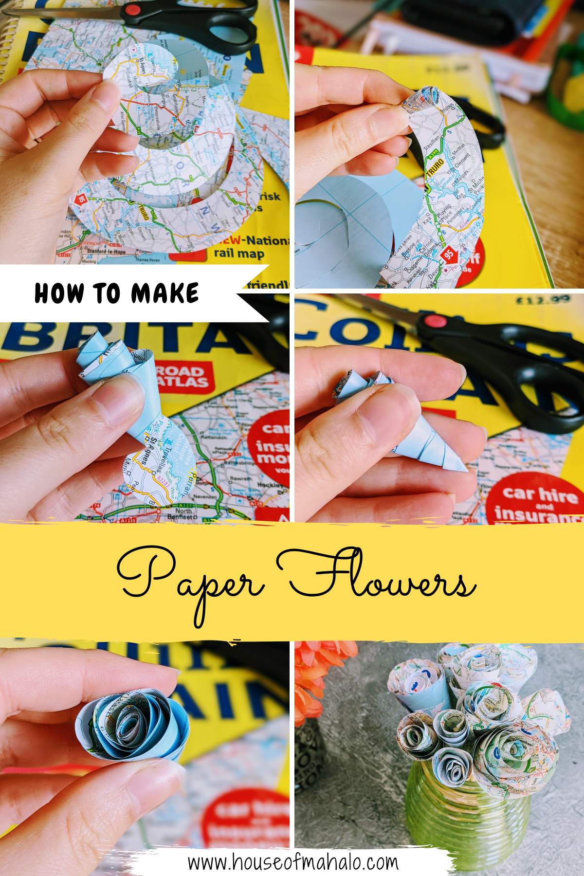 How To Make Paper Flowers - Easy DIY Swirl Roses