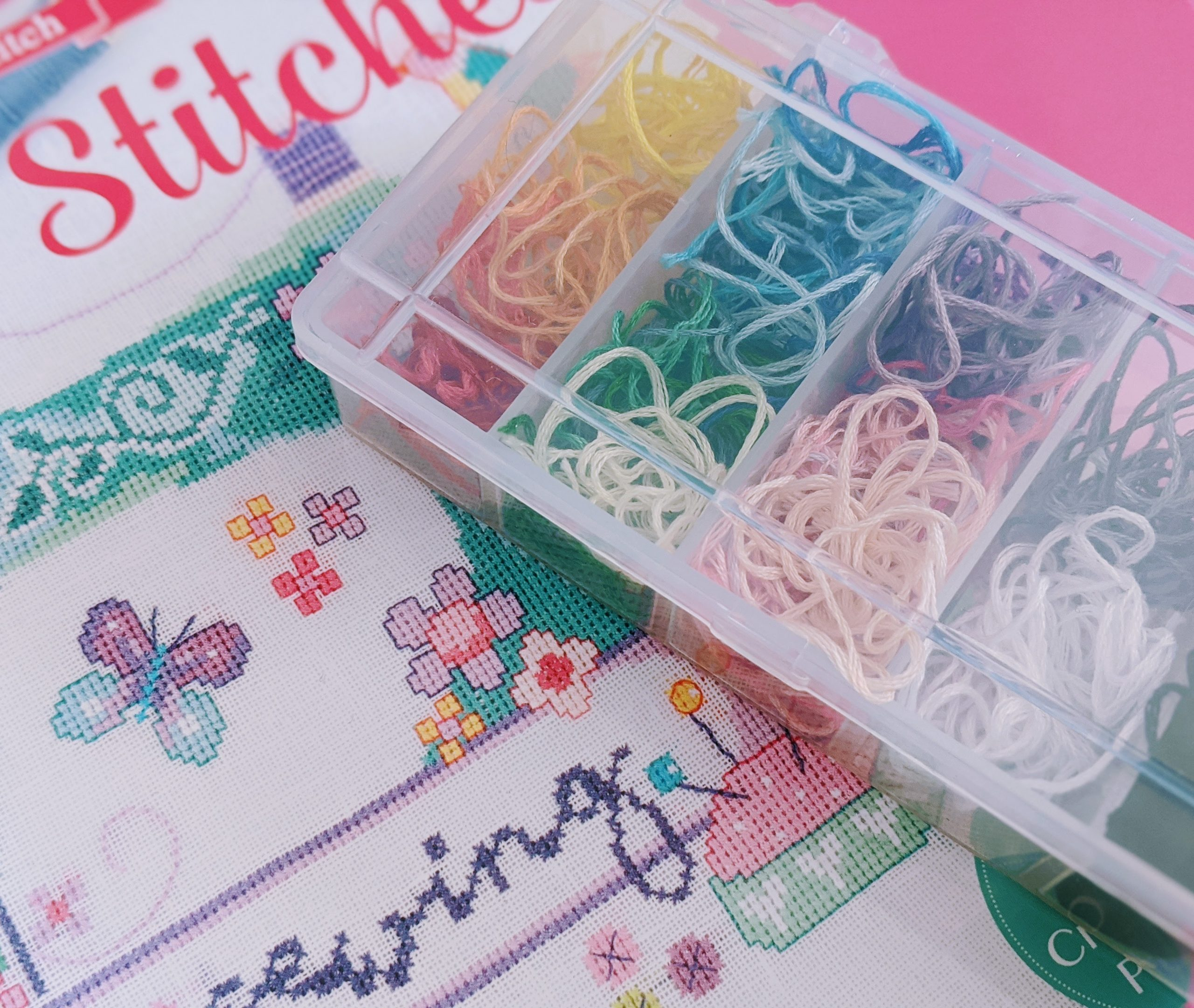 Leftover Cross Stitch Thread Storage