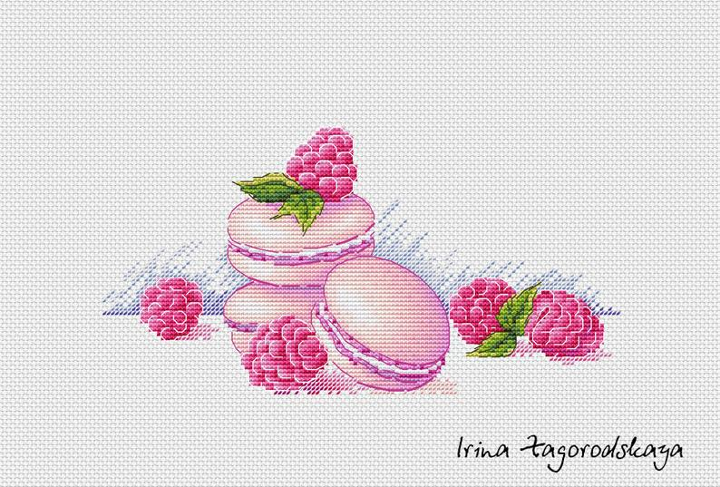Pretty Macarons Cross Stitch Pattern