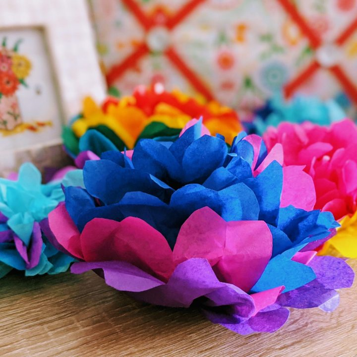 Colourful Tissue Paper Pom Poms