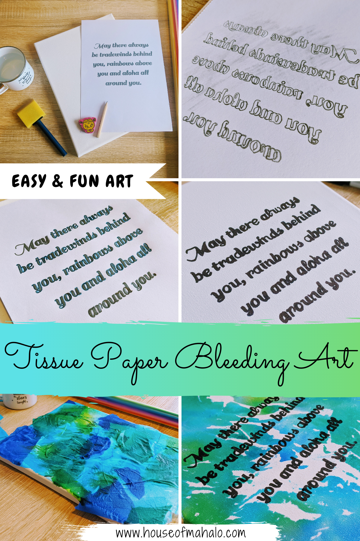 Fun Tissue Paper Bleeding Art Project [+ HOW TO VIDEO]
