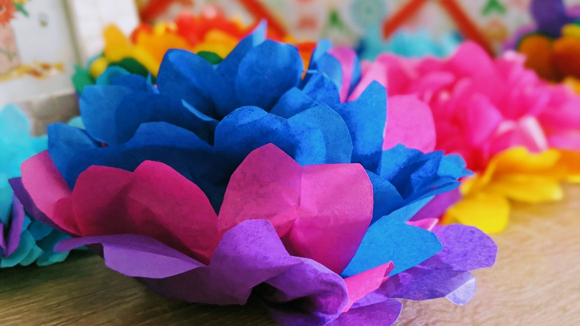 Easy DIY Tissue Paper Pom Poms [Video]