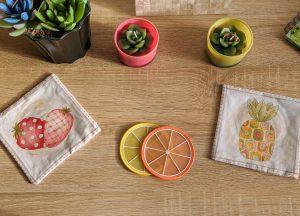Tropical Fruit Coasters