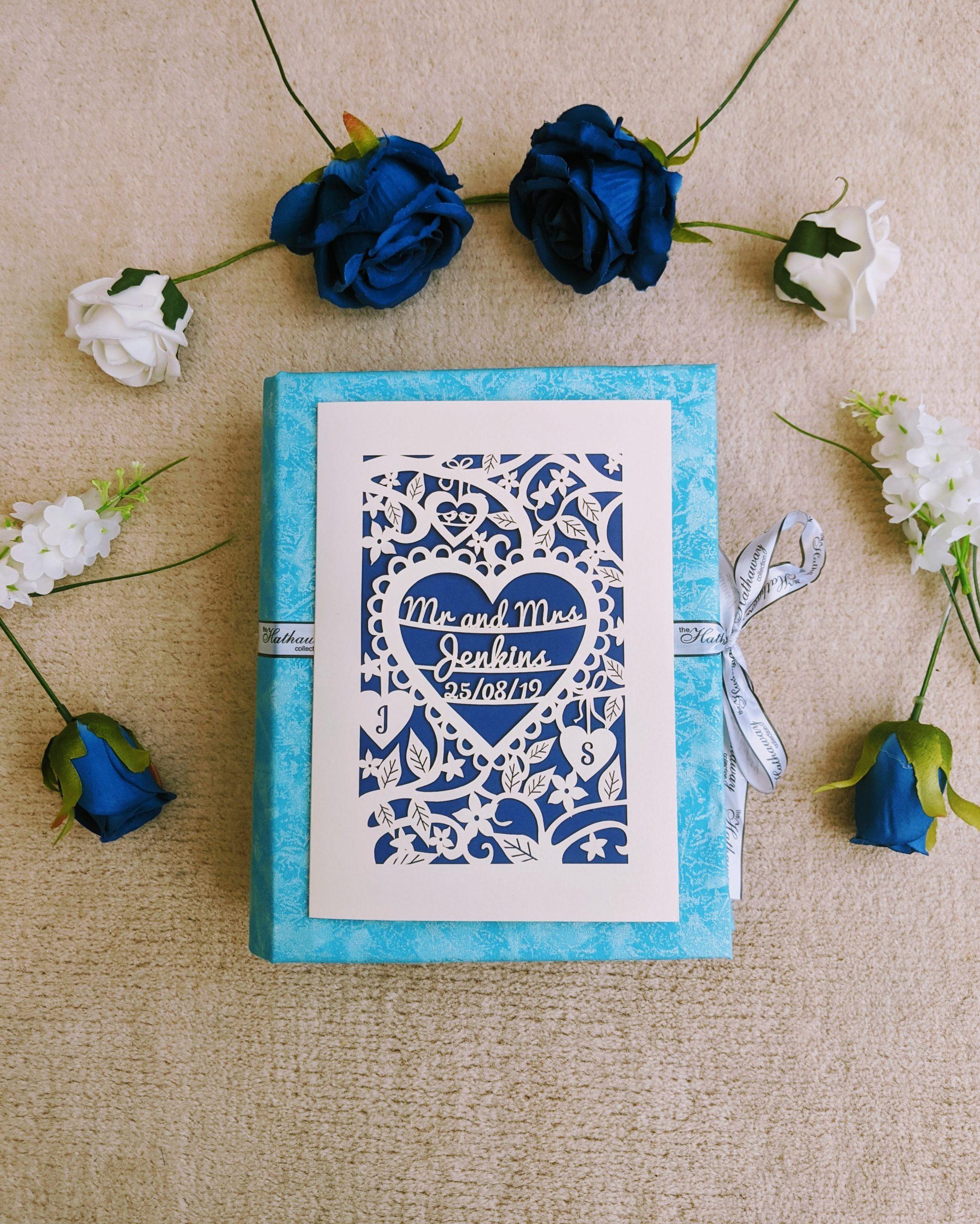 Finished DIY wedding card keepsake book