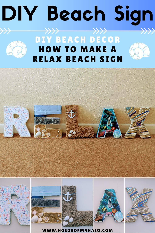RELAX DIY Beach Sign