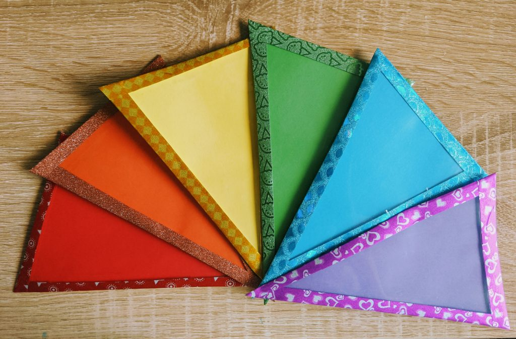 Outdoor bunting with washi tape