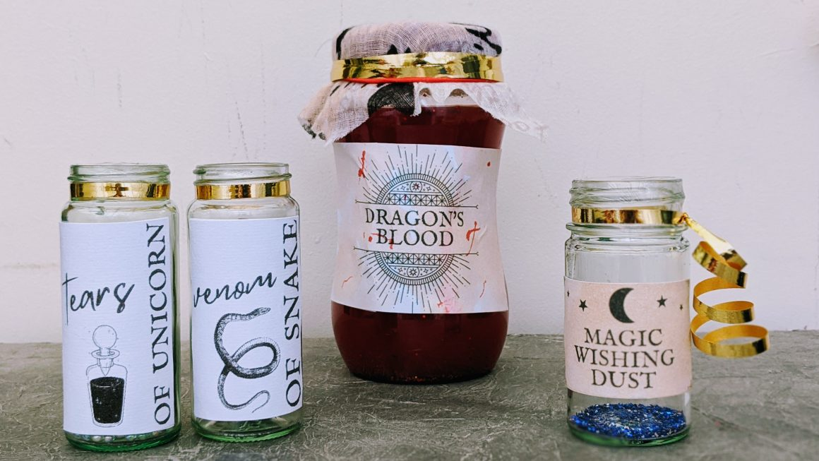 Easy DIY Apothecary Jars For Halloween [Free Printable]
