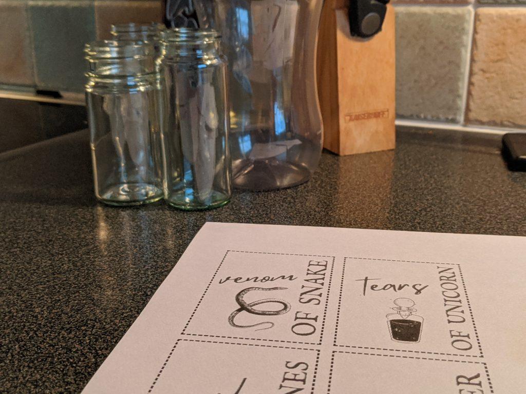 DIY apothecary jars tutorial for Halloween