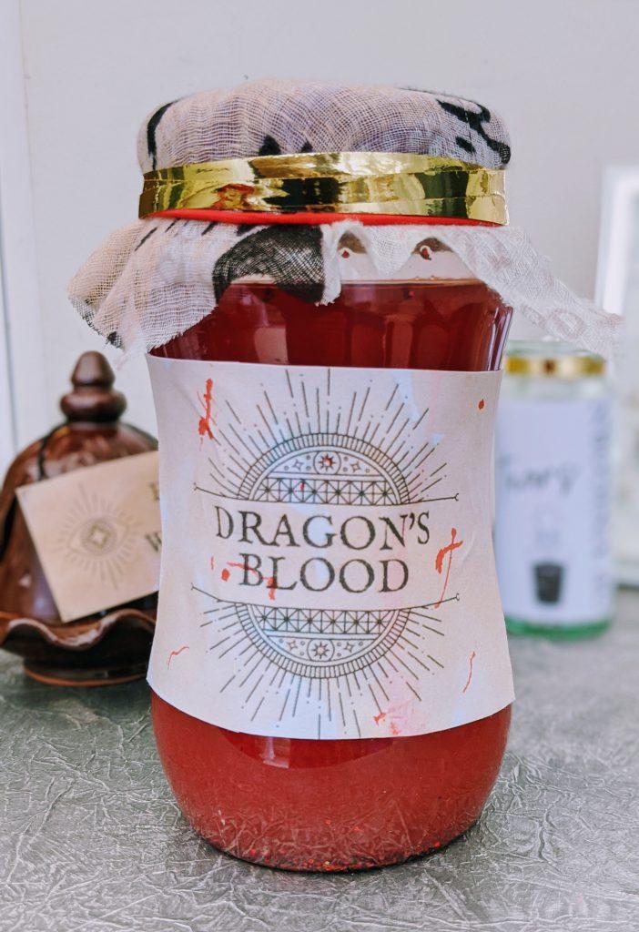 Dragon's Blood DIY Apothecary Jar for Halloween