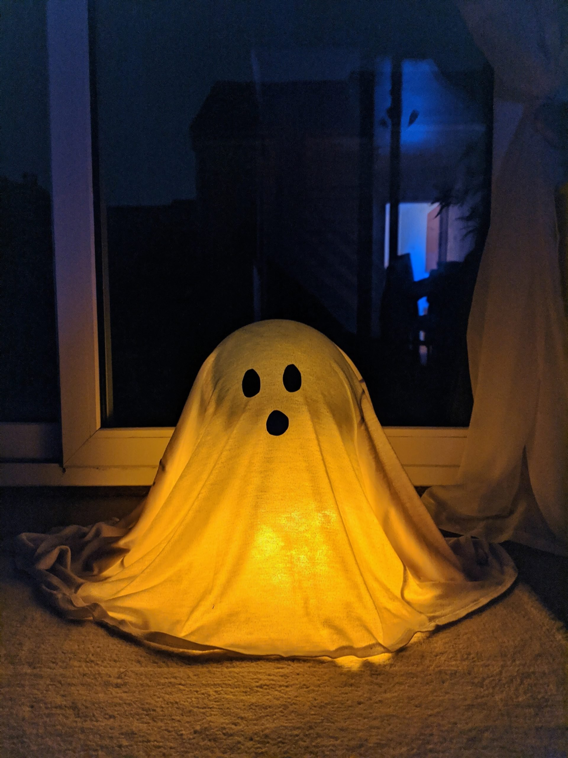 Finished DIY ghost decoration