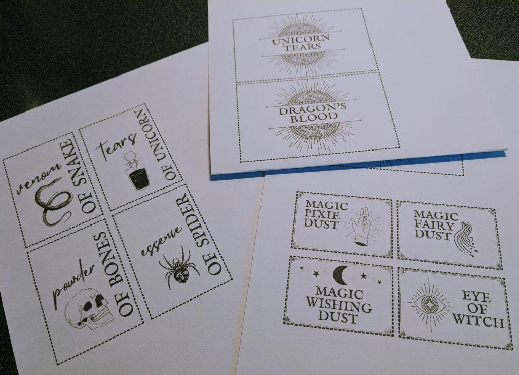 Free printable DIY apothecary jar labels