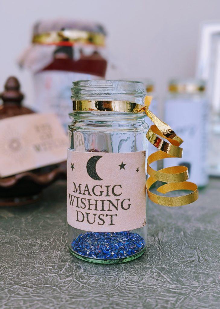 Magic Wishing Dust Apothecary Jar for Halloween