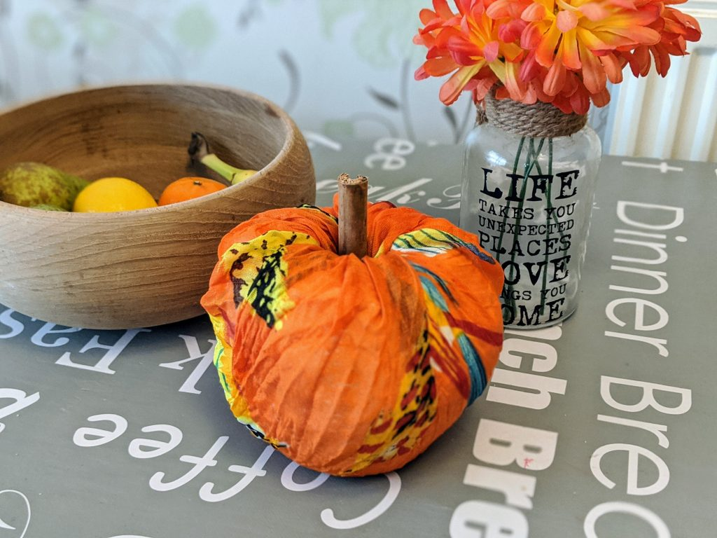 Easy DIY Toilet Paper Wrapped Pumpkin