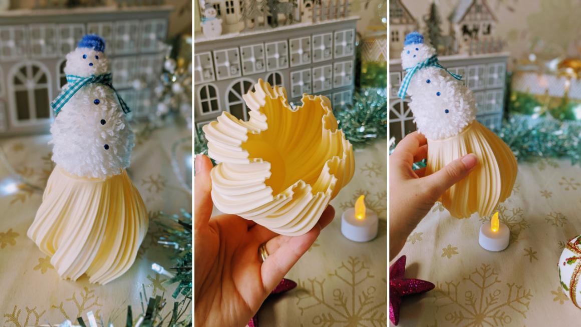 Cute DIY Pom Pom Snowman Ornament