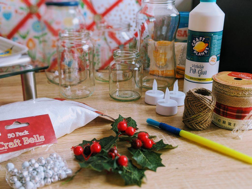 DIY Christmas Luminaries Supplies