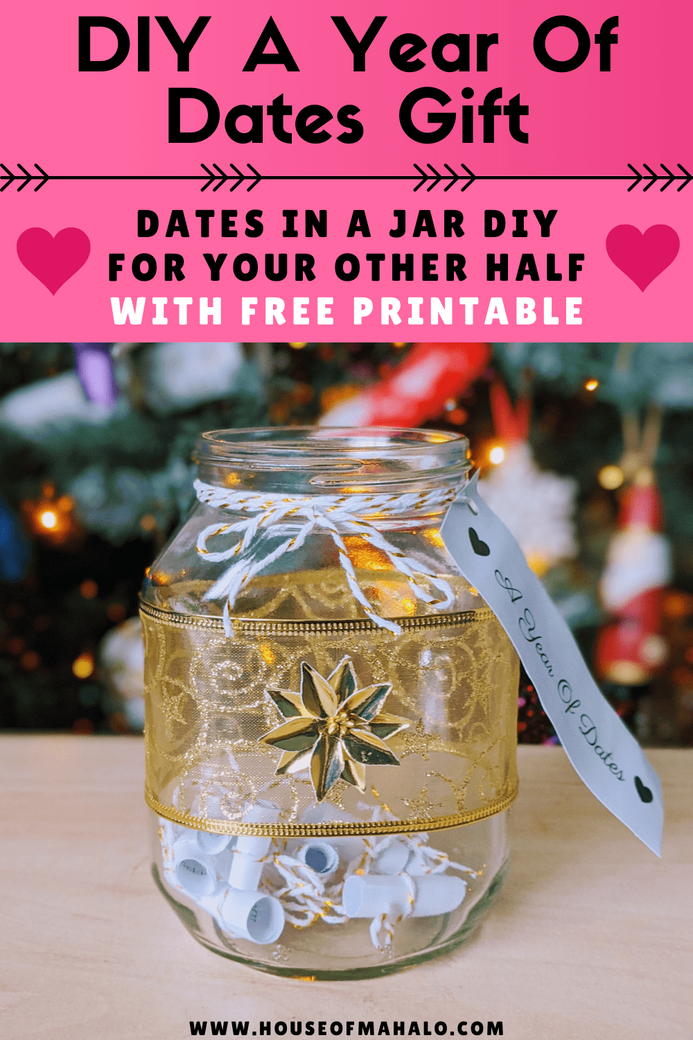 DIY A Year Of Dates Gift