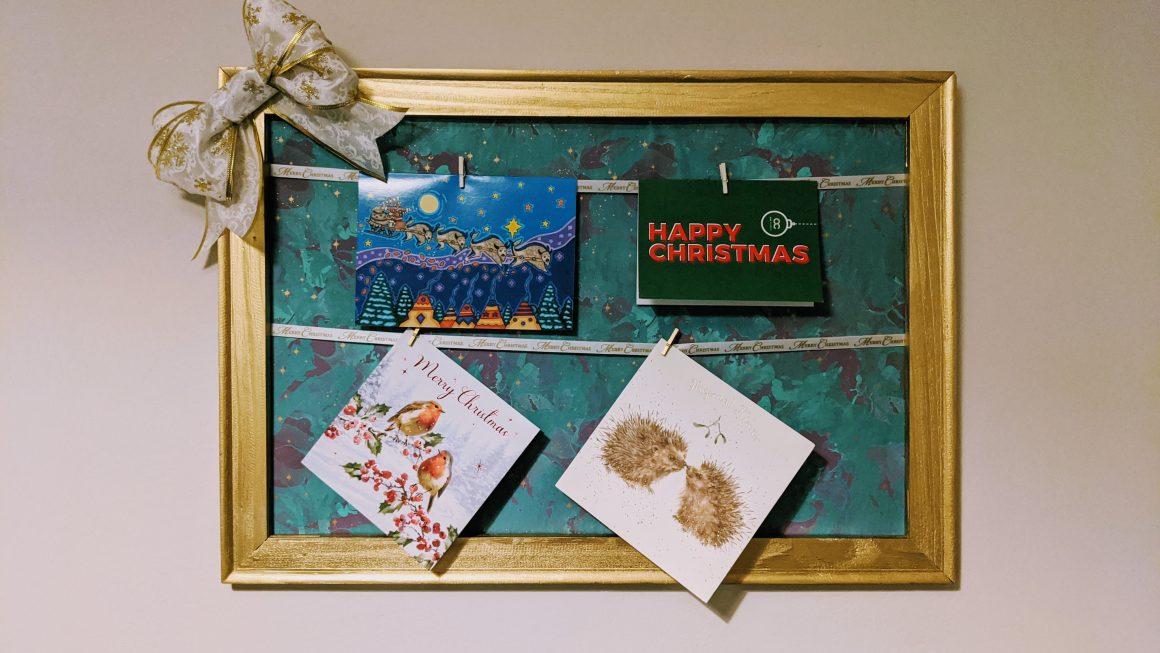 Easy DIY Christmas Card Holder
