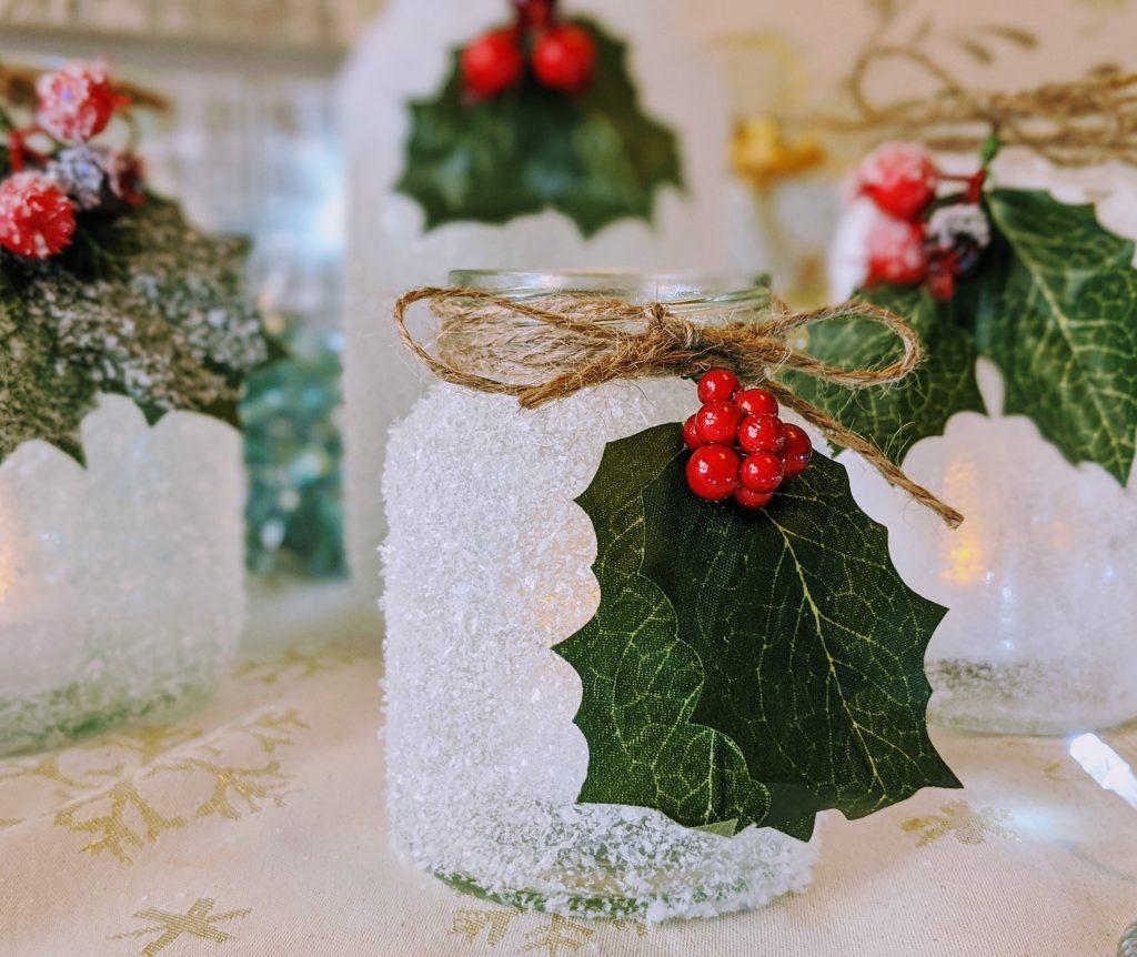 How to make Christmas luminaries with mason jars