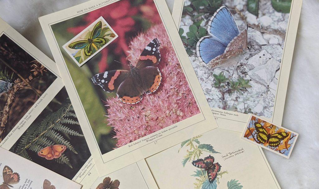 Butterfly junk journal ephemera