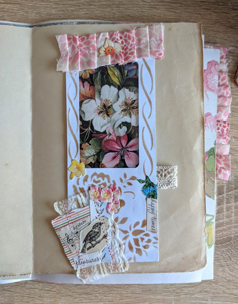 Window envelope bellyband junk journal page idea