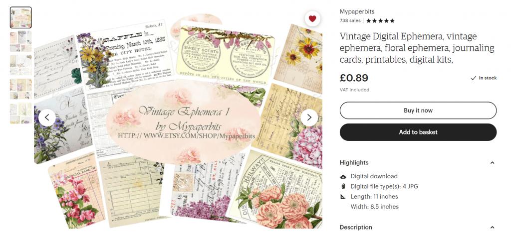 Digital Ephemera from Mypaperbits