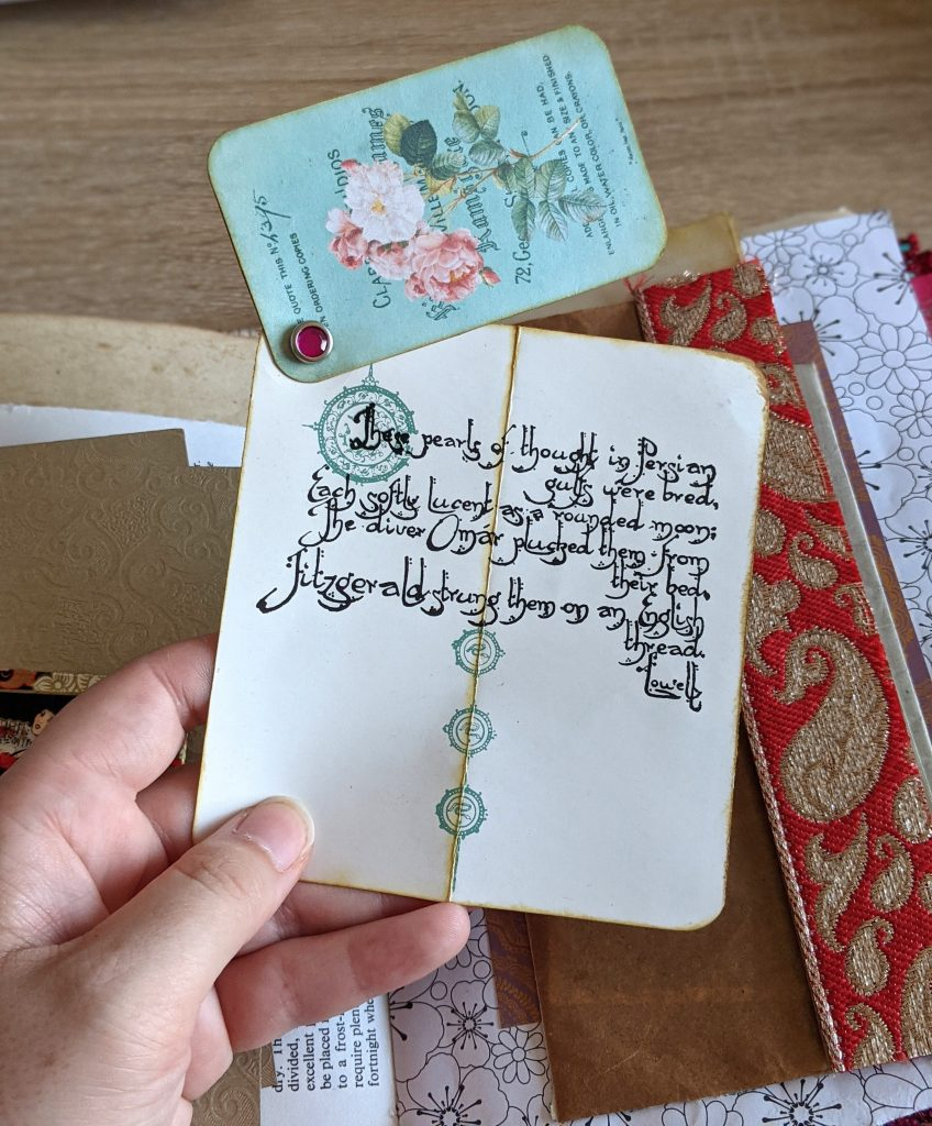Journal card example