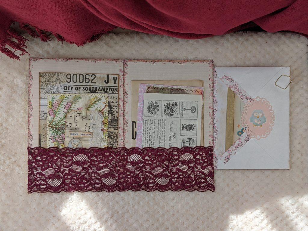 Inside the junk journal ephemera folio