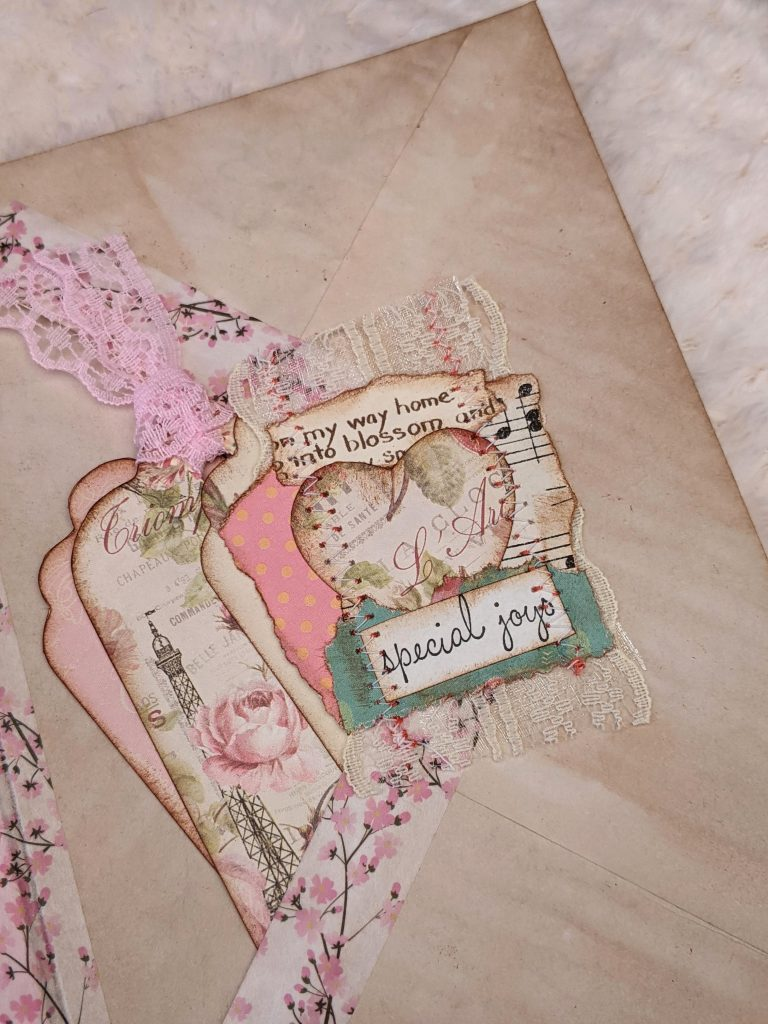 Junk journal snippet embellishment