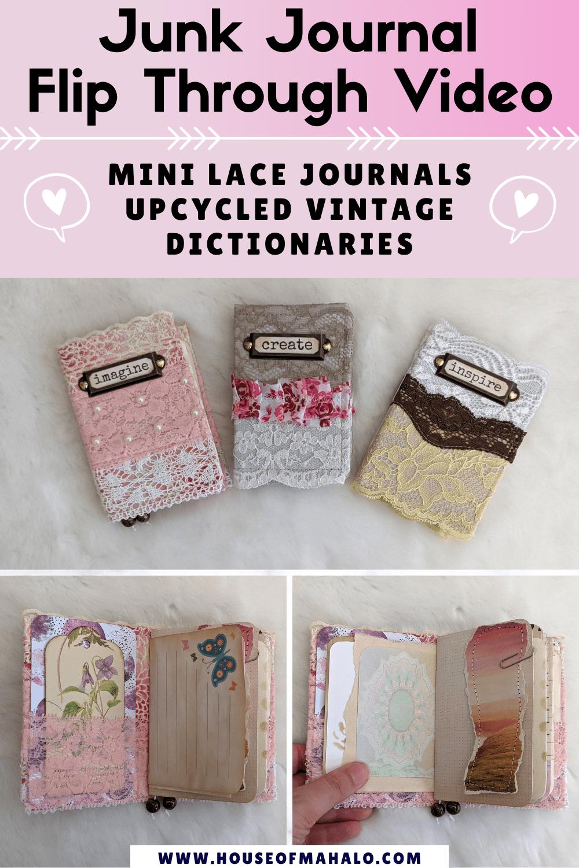 Mini Lace Junk Journal Flip Through Video Junk Journal Ideas