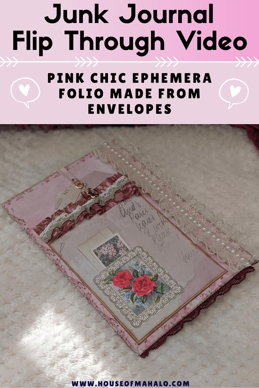 Pink Chic Junk Journal Ephemera Folio Flip Through   Junk Journal Ideas