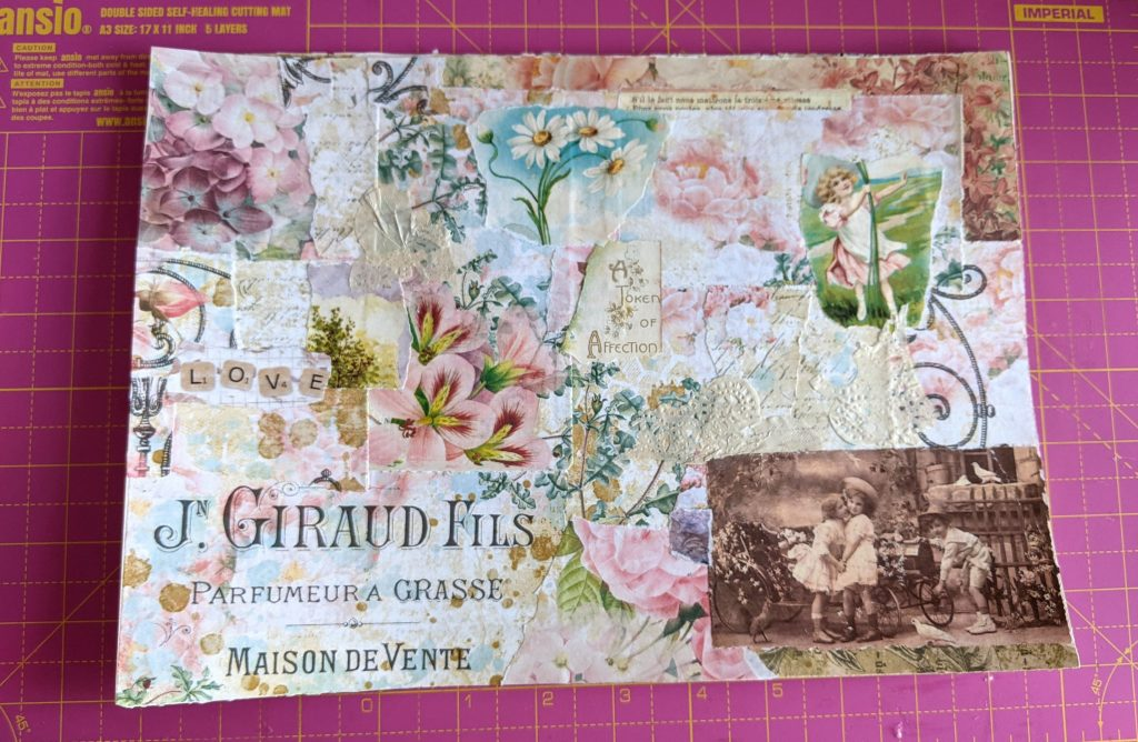 Pink collage masterboard