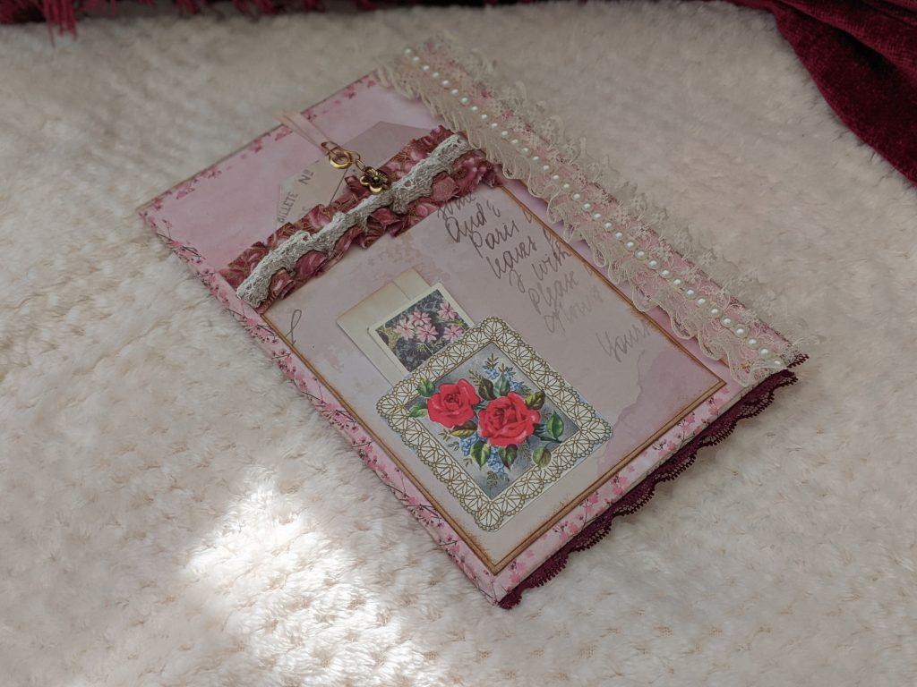 Pink chic junk journal ephemera folio