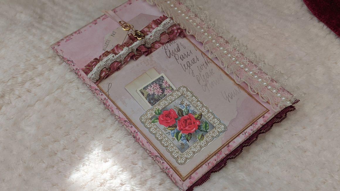 Pink Chic Junk Journal Ephemera Folio Flip Through | Junk Journal Ideas
