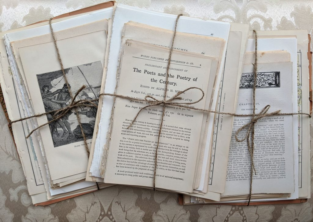 Vintage junk journal papers