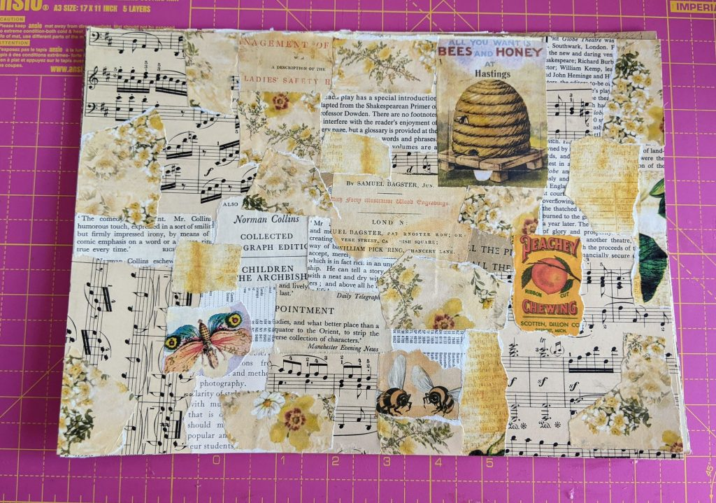 Yellow collage masterboard