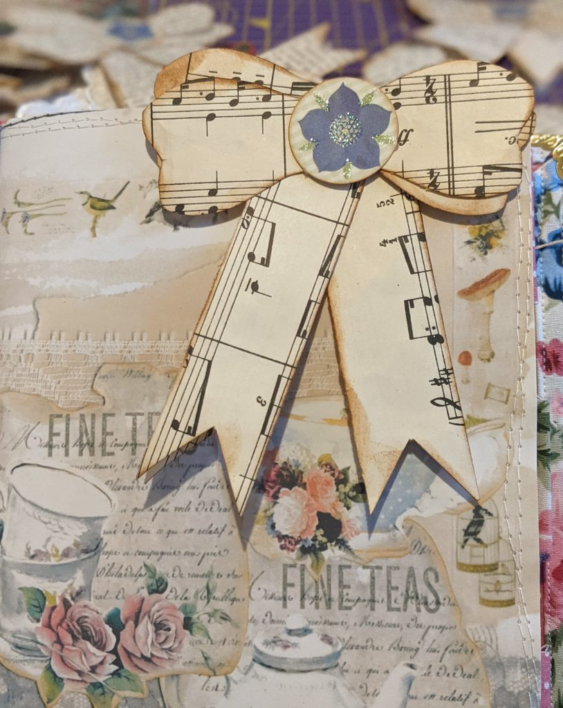 Altered paperclip junk journal page idea