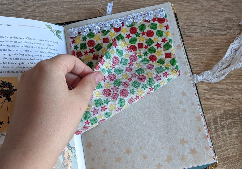 Fabric flip junk journal page idea